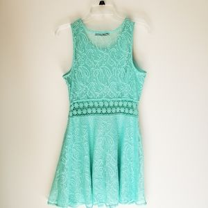 Bailey Blue Green Lace Dress Size Medium